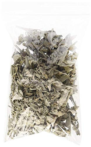 (Incense Garden | California White Sage Loose Leaves | Salvia Apiana Clusters | Dry Smudging and Burning | 2 Ounce Bag)