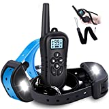 WDFZONE [New 2019] Dog Training Collar with Remote for 2 Dogs Waterproof Rechargeable Shock Collar with Remote for Small Medium Large Dogs