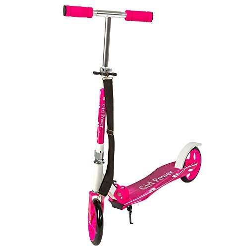TecTake Patinete Monopatín Scooter para Ciudad Niños 205mm – disponible en diferentes colores – (Rosa | No. 400843)