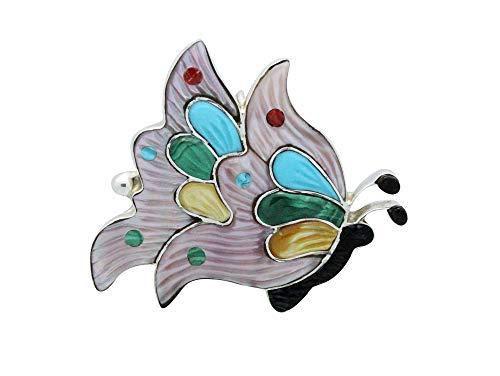 - Tamara Pinto, Pin, Pendant, Flying Butterfly, Multi Stone, Zuni Handmade, 2