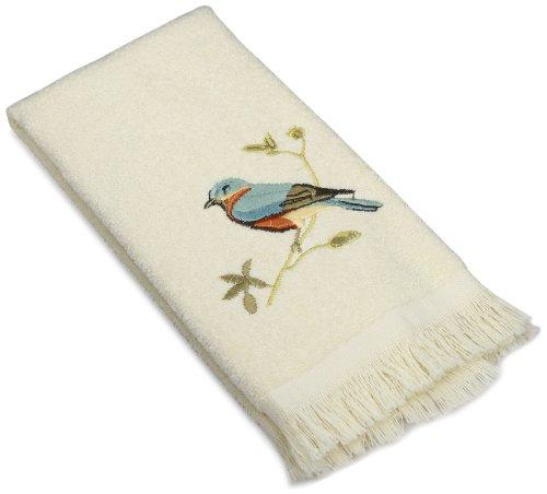 Avanti Linens Gilded Birds Fingertip Towel, Ivory