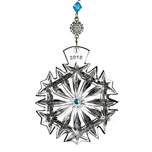 Crystal Snowflake Christmas Ornament - Waterford Snowflake Wishes Happiness Ornament 2018