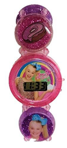 JoJo Siwa Stretch Bracelet Girls Watch (Purple w/Pink Dial)