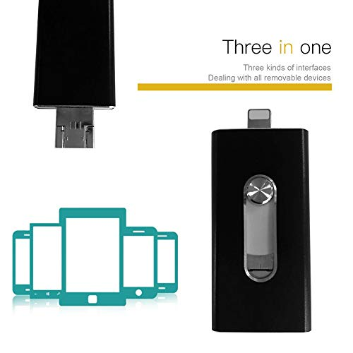 E.I.H. OTG USB Stick 3 in 1 Portable Push-and-Pull OTG USB Stick for Cell Phone for Android & Computer Mobile Phone 8G/16G/32G Capacity Storage Stick