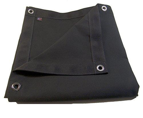 Northwest Tarp & Canvas Sunbrella Tarp, Black w/Reinforced Edging & #4 1/2