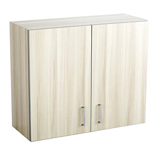 Safco Products 1700VS Modular Hospitality Breakroom Wall Cabinet, 1 Adjustable Shelf, Vanilla Stix Base/Gray (Breakroom Top)