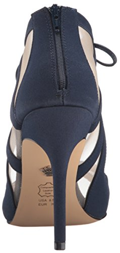 New nvy M Pump Dress Navy champ Nina Women's Peau Cherie waIqxxHzB