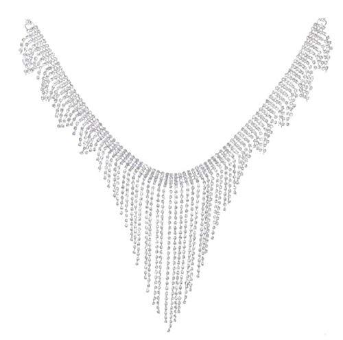 Rhinestone Belly Chain - WIIPU sexy Body Jewelry Rhinestone Belt - Front Fall belly chain(C355-3)