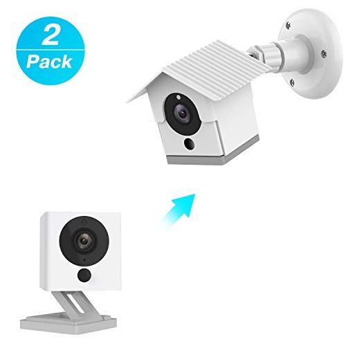 Wyze Camera Wall Mount Bracket Weather Proof 360 Degree Protective Adjustable Indoor and Outdoor Mount Cover Case for WyzeCam 1080p Smart Camera and Spot Camera Anti-Sun Glare UV Protection ... (Weather Camera)