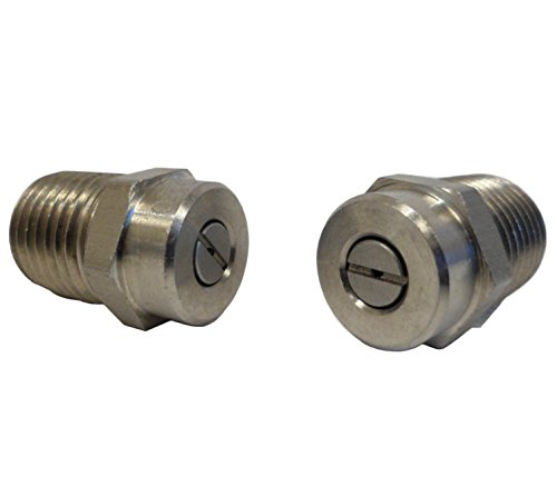 Ultimate Washer UW16-SE1421 1/4 Male NPT Screw Type Surface Cleaner Nozzle, 25 Degree 2.0 Orifice Spray Tip