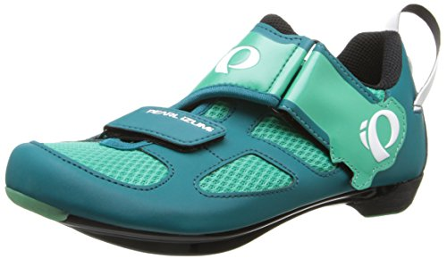 Pearl Izumi Women's W Tri Fly V Dl/g Tri Cycling Shoe, Deep Lake/Gumdrop, 39 EU/7.5 B US