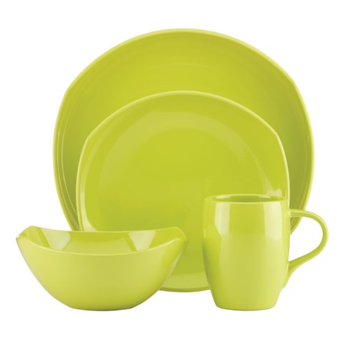 4 Place Settings Classic Dinnerware - DANSK Classic Fjord 4-Piece Place Setting, Apple Green