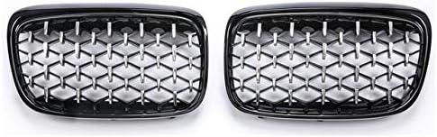 フォグライトグリル ダイヤモンドスタースタイルフロントグリルバンパー腎臓フィット感のためのBMW 2シリーズF45 F46 216i 218i 225i 220I 2015年から2017年バンパーグリル フォグライトフレーム (Color : Black edge)