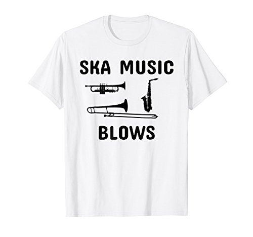 (Funny Ska Music Blows T-Shirt | Punk Band Musician Shirt)