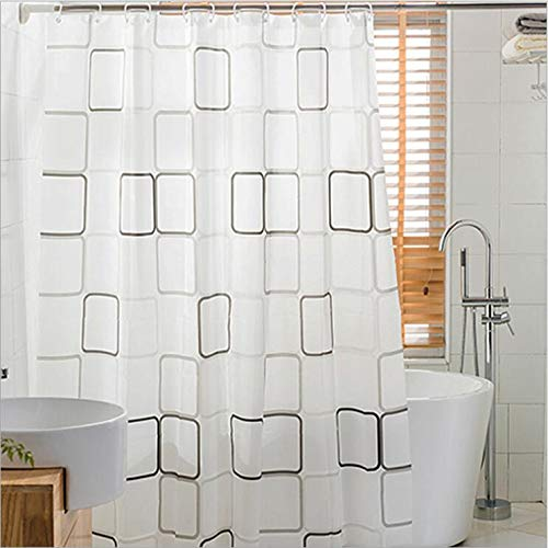 Potentcera PEVA Shower Curtain Mildew Resistant Polyester...