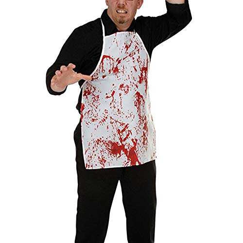 Marsrut TM 1 Piece 1PC Halloween Bloody Apron Kitchen Cosplay Butchers Costume Party Decoration Supplies Props Accessory Favors -