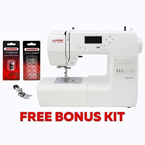 Janome Sewing Machine DC1018 Computerized w/ 2-Piece Bonus Kit by Janome DC1018 w/Bonus (Janome Manual Sewing Machine compare prices)