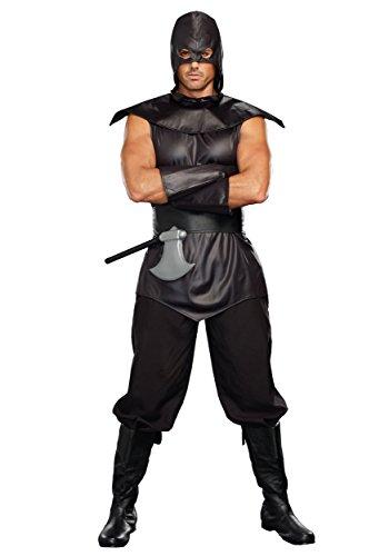 Dreamguy DG Brands Men's Dark, Deadly Gothic Costume, The Assassin Male, Black, X-Large -