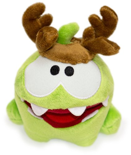 """Cut the Rope Om Nom Plush with Antlers 5"""""""