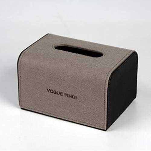 GYCOZ Tissue Box Leinen Vereinfachtes Chinesisch Tissue Box Startseite Bogenform Fach Fach Papierkasten Weiß, Braun Tissue Box Cover Gesicht (Color : Brown)