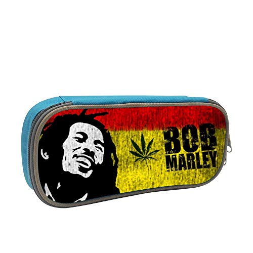 SsSEYYA Jamaica-Bob Mar-Ley Pencil Bag Makeup Pen Pencil Case Big Capacity Pouch Durable Students Stationery with Double Zipper Pen Holder for School/Office (Sonnenbrille, Make-up)