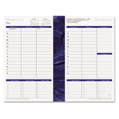 - Monticello Dated Weekly/Monthly Planner Refill, 5 1/2 x 8 1/2, 2018