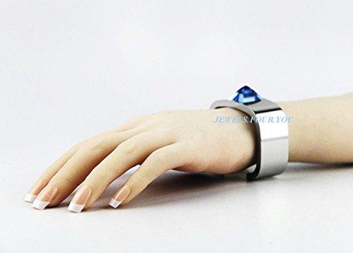 Hermes Massive Aquamarine Crystal Bracelet Size S Made in France