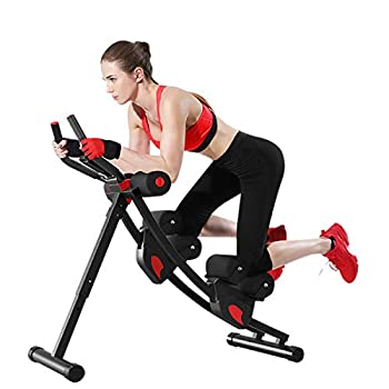 Image of Core & Abdominal Trainers Fitlaya Fitness ab Machine, ab Workout Equipment for Home Gym, Height Adjustable ab Trainer, Foldable Fitness Equipment.