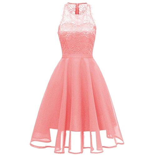 Party Aline Dress for Women Vintage Swing Dress Chiffon Princess Floral Lace Cocktail
