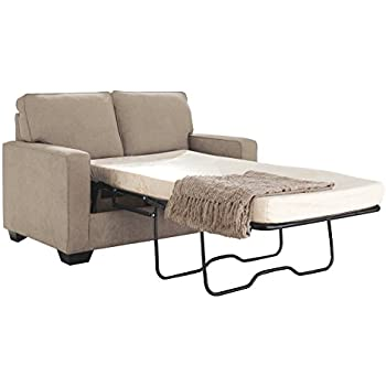 Ashley Furniture Signature Design   Zeb Contemporary Sleeper Sofa   Twin  Size Mattress Included   Quartz
