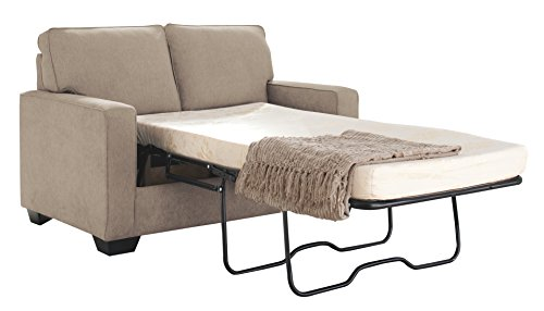 Ashley Furniture Signature Design – Zeb Contemporary Sleeper Sofa – Twin Size Mattress Included – Quartz