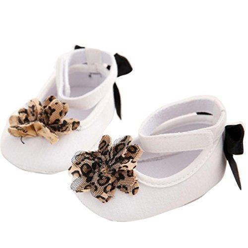 Ouneed® Krabbelschuhe , Weihnachten Baby-Säuglingskind-Mädchen-weiche alleinige Krippe-Kleinkind-neugeborene Schuhe Weiß
