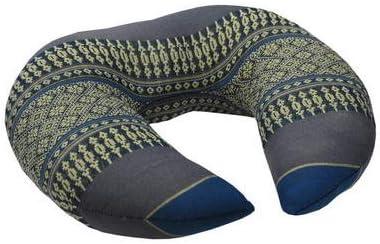 Tantrakissen Dreieck 52x30x34 Wilai Kapok Thaikissen Blau//Grau Strandkissen Meditationskissen Yogakissen Massagekissen