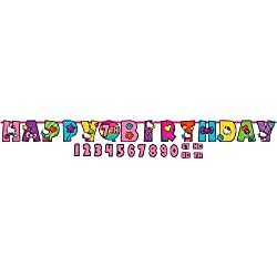 Jumbo Add-An-Age Letter Banner | Hello Kitty Rainbow Collection | Birthday
