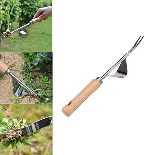 YeBetter Stainless Steel Garden Weeder Weeding Tool Seedling Fork Seedling Transplant Shovel Seedling Transplant Shovel