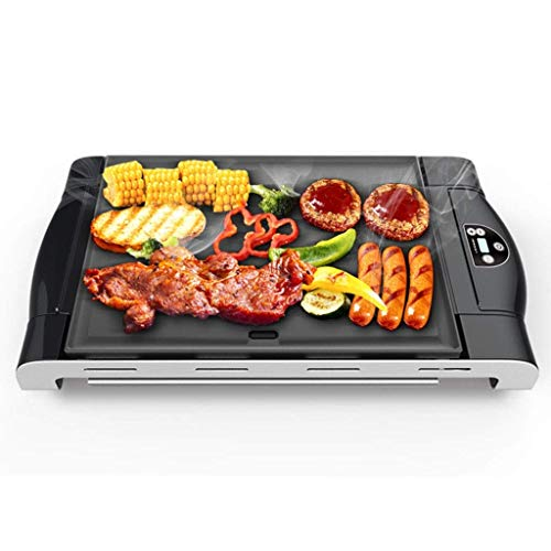 LYATW Smokeless Grill Indoor Grill Power Electric Grill, Compact & Portable Non-Stick BBQ Grill, LED Smart Control Panel, Drip Tray& Removable Plate Easy Cleaning