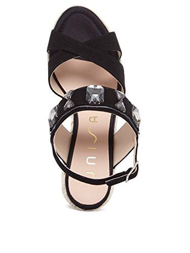 Unisa - Sandalias de vestir de Gamuza para mujer negro