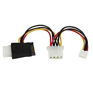 StarTech.com LP4 to SATA Power Cable Adapter with Floppy Power (LP4SATAFMD)