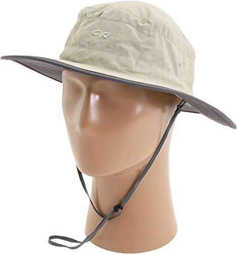 Outdoor Research Womens Solar Roller Sun Hat, Khaki/Dark Grey, Large