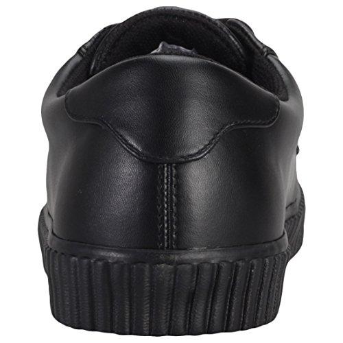 Ezc Pelle Nero k In Di T Creeper Black Shoes u Sneaker Vegan TwFBY