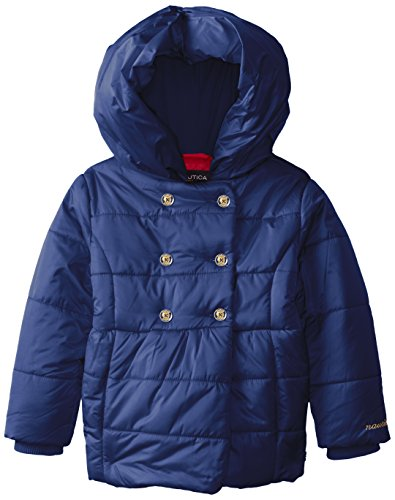 Nautica Girls Double Breasted Puff