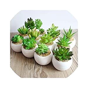 1pcs Artificial Green Plant Artificial Miniascape/Bonsai/Potted Home Balcony Decoration Decorative Flower Succulent Plants 43