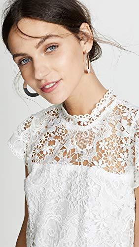 Petits Gâteaux Et Blanc Robe En Dentelle Florale Des Femmes En Cachemire
