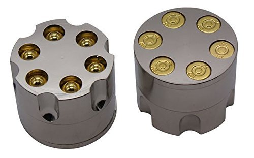 Stainless Steel Revolver Gun Replica Herb Grinder Herb and Spice Mill Design AA+