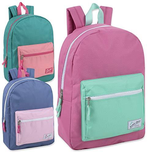 Wholesale Urban Sport 17 Inch MultiColor Block Backpacks in Bulk 24 Value Packs