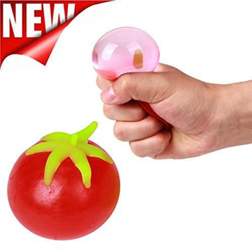 Alimao GiftNovelty Tomato Shaped Squeeze Toys Stress Relief Squeeze Venting Ball Funny Gift - Outlet Raybans