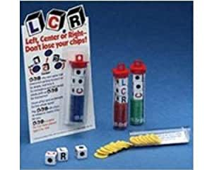 LCR Dice Game (Red Chips)