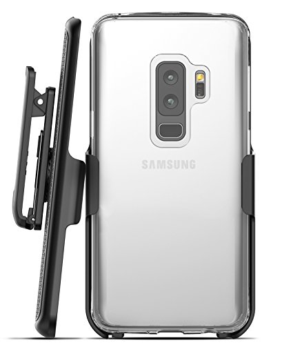 Galaxy S9 Plus Belt Case, Encased Clear Protective Grip Cover with Holster Clip for Samsung Galaxy S9+ (2018 Release) Crystal Clear