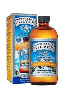 Bio-Active Silver Hydrosol No Dropper Bottle, 10 ppm - 16 fl. oz (473 ml) by Sov by Sovereign Silver