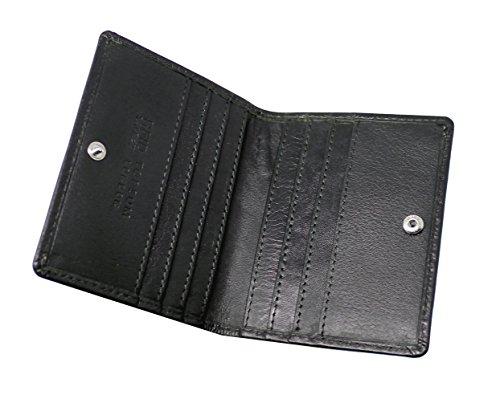 Topsum® London Designer RFID-Blockierung Ultra Schmales Leder 2 Fach Mini Kreditkarten Etui Leder Brieftasche - Kommt Mit Einer Geschenkbox #4022 (Schwarz) Schwarz